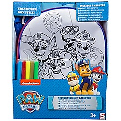 Paw Patrol - Colour your own backpack