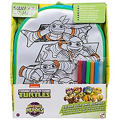 Teenage Mutant Ninja Turtles - Colour your own backpack