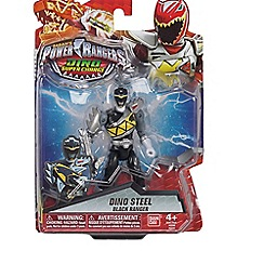 Power Rangers - Dino Super Charge 12.5cm Dino Armed Up Mode Black Ranger Figure