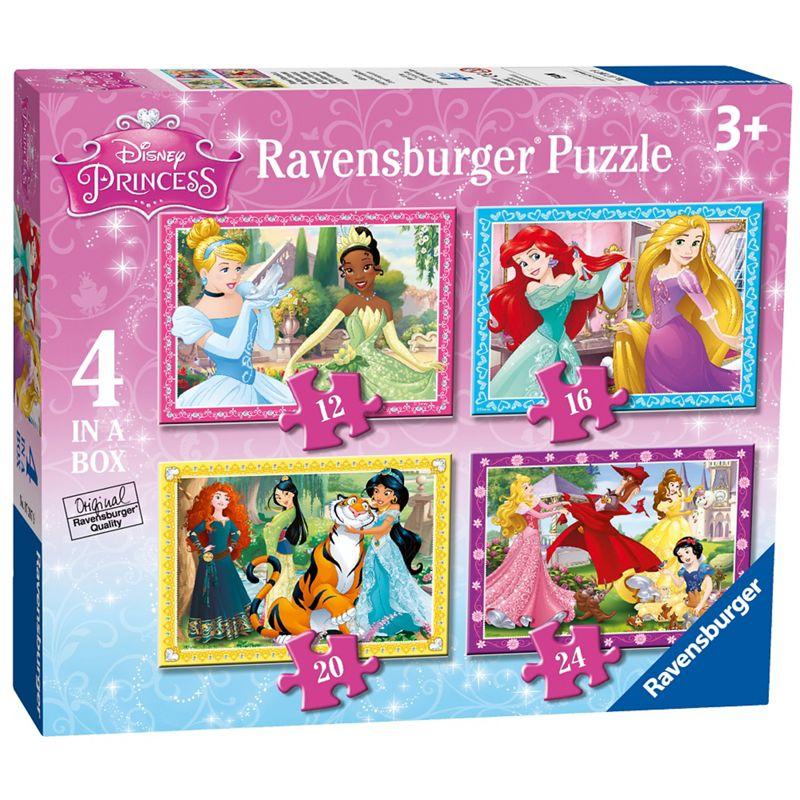 Disney Princess 4 in a box (12, 16, 20, 24pc) Jigsaw Puzzles