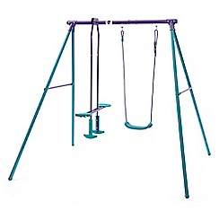 Plum - Metal single swing with glider