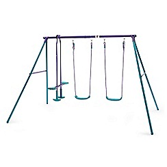 Plum - Metal double swing with glider