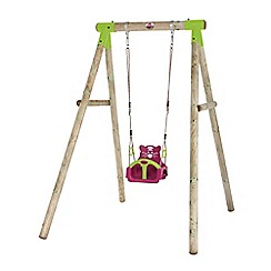 Plum - Quoll wooden swing set