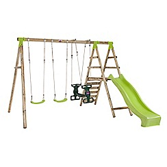Plum - Silverback wooden swing set