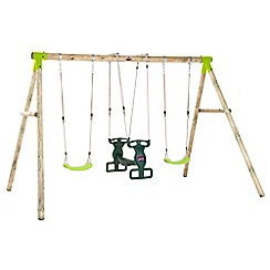 Plum - Vervet wooden swing set