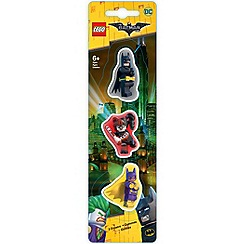 LEGO - The Batman Movie - 3 Pack Erasers: Batman, Batgirl, Harley Quinn