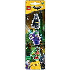 LEGO - The Batman Movie - 3 Pack Erasers: Batman, Robin, Joker