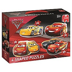 Disney Cars - 4 in 1 Shaped Puzzles