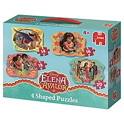 Disney - Elena of Avalor 4 in 1 shaped puzzles
