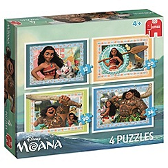 Disney - Moana 4 in 1 shaped puzzles