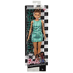 Barbie - Petite Doll in Lime Gingham Dress