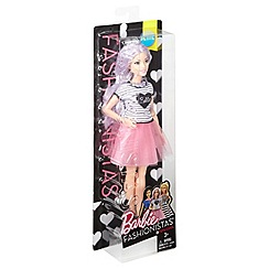 Barbie - Petite Doll in Pink Skirt with Purple Hair