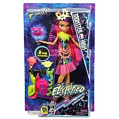 Monster High - Electrified Hairstyling Clawdeen Wolf Doll