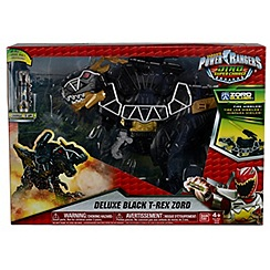 Power Rangers - Dino Super Charge Deluxe Tyrrano Black Zord