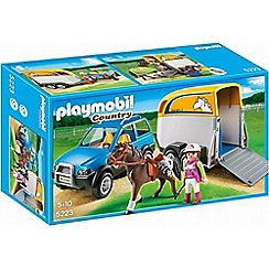 Playmobil - Country SUV with Horse Trailer - 5223
