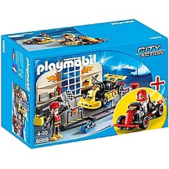 Playmobil - Sports & Action Go-Kart Garage StarterSet - 6869