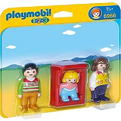 Playmobil - 1.2.3 Parents with Baby Cradle - 6966