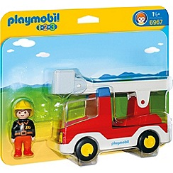 Playmobil - 1.2.3 Ladder Unit Fire Truck - 6967