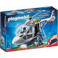 Playmobil - City Action Police Helicopter with LED Searchlight - 6921
