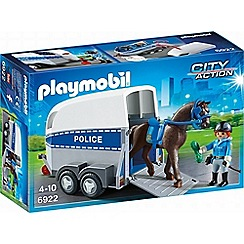 Playmobil - City Action Police with Horse and Trailer - 6922
