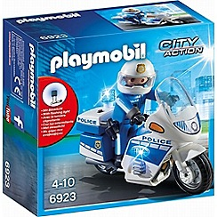 Playmobil - City Action Police Bike with LED Light - 6923