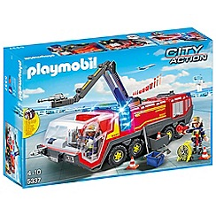 Playmobil - City Life Airport Fire Engine with Lights and Sound - 5337