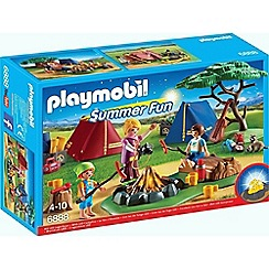 Playmobil - Summer Fun Camp Site with LED Fire - 6888
