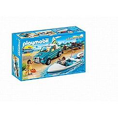 Playmobil - Summer Fun Surfer Pickup with Speedboat - 6864