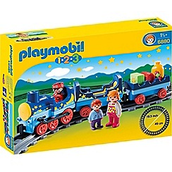 Playmobil - 1.2.3. Night Train with Track - 6880