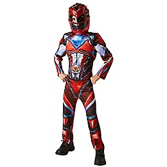 Power Rangers - Deluxe Red Ranger Costume - Medium
