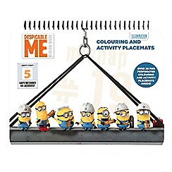 Despicable Me - Activity placemat book