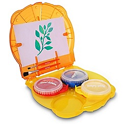 Golden Bear - 3x Paint Pods, 2 Brushes And Paper In A Handy Carry Case