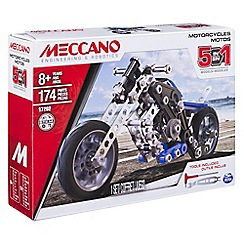 Meccano - 5 Model Set - Motorcycle
