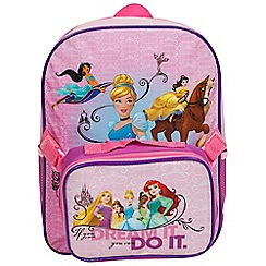 Disney Princess - Junior Backpack with Lunch Bag