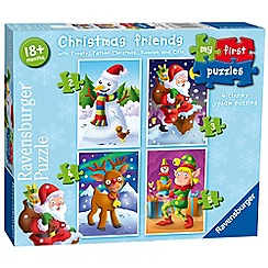 Ravensburger - My first puzzle, christmas friends (2, 3, 4 & 5pc) jigsaw puzzles