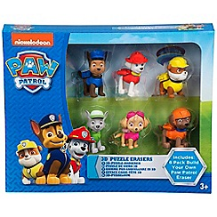 Paw Patrol - 6 Pack Puzzle Erasers