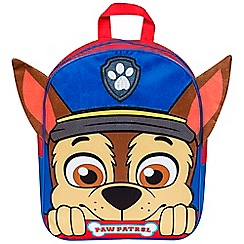 Paw Patrol - Chase Embroidered Plush Front Backpack