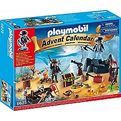 Playmobil - Advent Calendar 'Pirate Treasure Island' with Glowing Effect Pirate - 6625