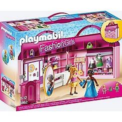 Playmobil - Fashion Girls Take Along Fashion Boutique with Changeable Clothing - 6862