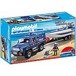 Playmobil - Police Truck with Speedboat - 5187