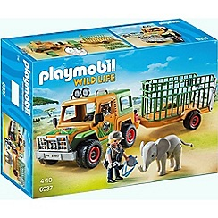 Playmobil - Wildlife Ranger's Truck with Elephant - 6937