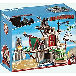 Playmobil - Dragons© Berk Island Fortress with Firing Cannons - 9243