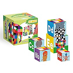 Elmer - Elmer the elephant stacking blocks