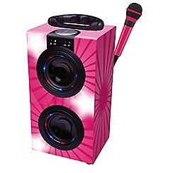 Lexibook - Mini Bluetooth Tower with Microphone - Pink