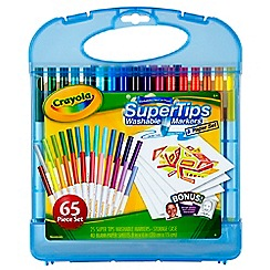 Crayola - Super tips Washable Markers and Paper Set