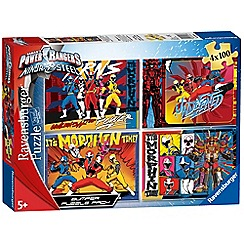 Power Rangers - Ninja Steel, 4x 100pc Jigsaw Puzzle Bumper Pack