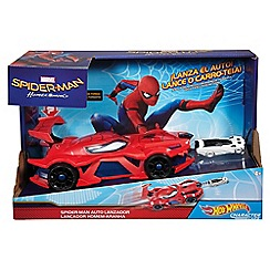 Hot Wheels - Character Cars Marvel Spider-Man Web-Car Launcher Vehicle