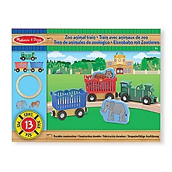 Melissa & Doug - Zoo animal train set