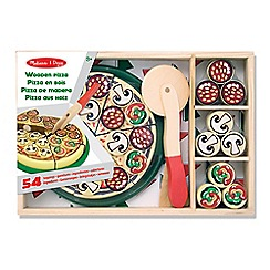 Melissa & Doug - Wooden pizza set - wooden play food