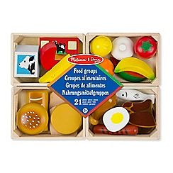 Melissa & Doug - Food groups - wooden play food